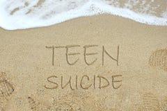 Concepto adolescente del suicidio fotografía de archivo