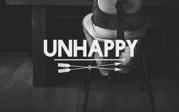 Concepto afligido infeliz de la soledad de la desesperación Imagenes de archivo