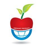 Concepto agrícola, manzana orgánica Imagen de archivo