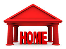 Concepto aislado 3d de hogar Fotografía de archivo libre de regalías