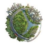 Concepto aislado de globo miniatura Foto de archivo libre de regalías