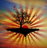 Concepto aislado de la ilustración de la naturaleza del árbol libre illustration
