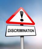 Concepto alerta de la discriminación Foto de archivo libre de regalías