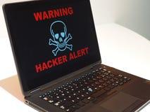 Concepto alerta del pirata informático imágenes de archivo libres de regalías