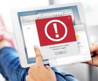 Concepto alerta del problema del icono del fracaso del error Imágenes de archivo libres de regalías