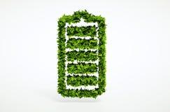 Concepto alternativo de la batería de la ecología Foto de archivo