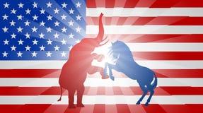 Concepto americano de la bandera de la elección Fotos de archivo libres de regalías