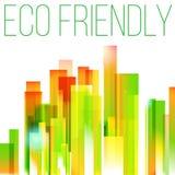 Concepto amistoso de la ciudad del eco del arco iris Imágenes de archivo libres de regalías