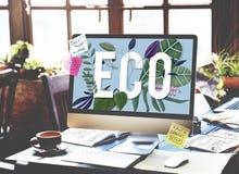Concepto amistoso del ambiente del verde del Día de la Tierra de Eco Foto de archivo