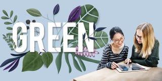 Concepto amistoso del ambiente del verde del Día de la Tierra de Eco Foto de archivo libre de regalías