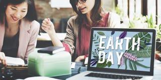 Concepto amistoso del ambiente del verde del Día de la Tierra de Eco Imagenes de archivo