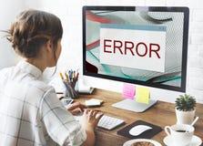 Concepto amonestador del fin anormal del fracaso de la desconexión del error imagenes de archivo