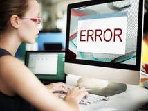 Concepto amonestador del fin anormal del fracaso de la desconexión del error fotos de archivo libres de regalías