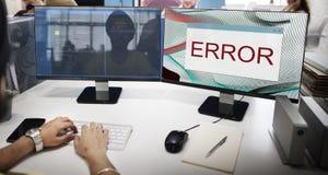 Concepto amonestador del fin anormal del fracaso de la desconexión del error foto de archivo