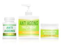 Concepto anti del envejecimiento. stock de ilustración