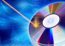 Concepto ardiente del CD/DVD