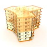 Concepto arquitectónico stock de ilustración