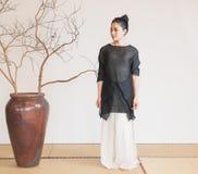 Concepto artístico de Zen Meditation-The del té del zen Fotografía de archivo libre de regalías