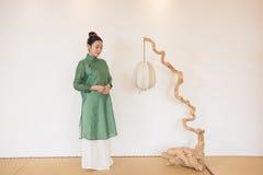 Concepto artístico de Zen Meditation-The del té del zen Fotos de archivo libres de regalías