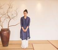 Concepto artístico de Zen Meditation-The del té del zen Foto de archivo