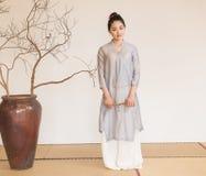 Concepto artístico de Zen Meditation-The del té del zen Imagenes de archivo