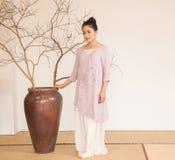 Concepto artístico de Zen Meditation-The del té del zen Foto de archivo libre de regalías