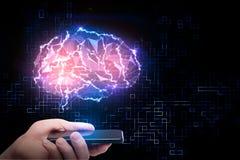 Concepto artificial de la mente y de la ciencia foto de archivo libre de regalías