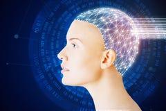 Concepto artificial del cerebro imágenes de archivo libres de regalías
