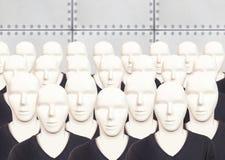 Concepto artificial del hombre - robot androide fotos de archivo