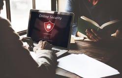 Concepto asegurado advertencia amonestadora del sitio web de la alarma de seguridad Fotos de archivo libres de regalías