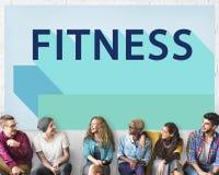 Concepto atlético del ejercicio de la salud del entrenamiento de la salud de la aptitud Imagenes de archivo