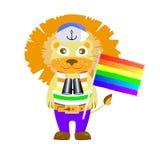Concepto atractivo de la minoría gays, lesbianas stock de ilustración