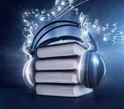 Concepto audio del libro Fotografía de archivo libre de regalías
