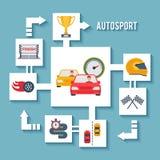 Concepto auto del deporte libre illustration