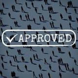 Concepto autorizado accesible comprobado aprobado de la seguridad stock de ilustración