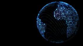 Concepto azul de Loopable del globo del mundo de Apps ilustración del vector