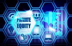 Concepto azul del modelo del fondo de la equidad privada ilustración del vector
