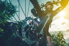 Concepto Biking extremo fotos de archivo