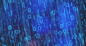 Concepto binario de la codificación Fotografía de archivo