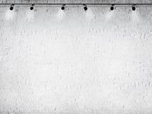 Concepto blanco concreto del equipo de iluminación del fondo Imágenes de archivo libres de regalías