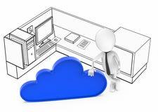 concepto blanco de la tecnolog?a de la nube del individuo 3d libre illustration