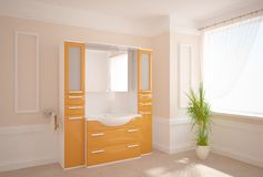 Concepto blanco del cuarto de baño Imagenes de archivo