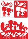 Concepto blanco y rojo hermoso romántico ilustración del vector