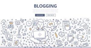 Concepto Blogging del garabato Foto de archivo libre de regalías