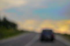 Concepto borroso fondo del viaje de la pista del camino Foto de archivo