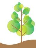 Concepto cómodo del árbol de Eco stock de ilustración
