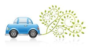 Concepto cómodo del coche de Eco ilustración del vector