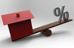 Concepto cada vez mayor de la tasación de la casa ilustración del vector