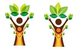 Concepto cada vez mayor del árbol de familia ilustración del vector