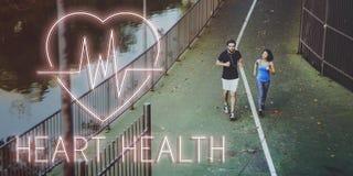 Concepto cardiaco del gráfico del corazón de la enfermedad cardiovascular foto de archivo libre de regalías